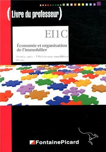 Livre du professeur eco et org. de l'immobilier bts prof. immobilieres/licence