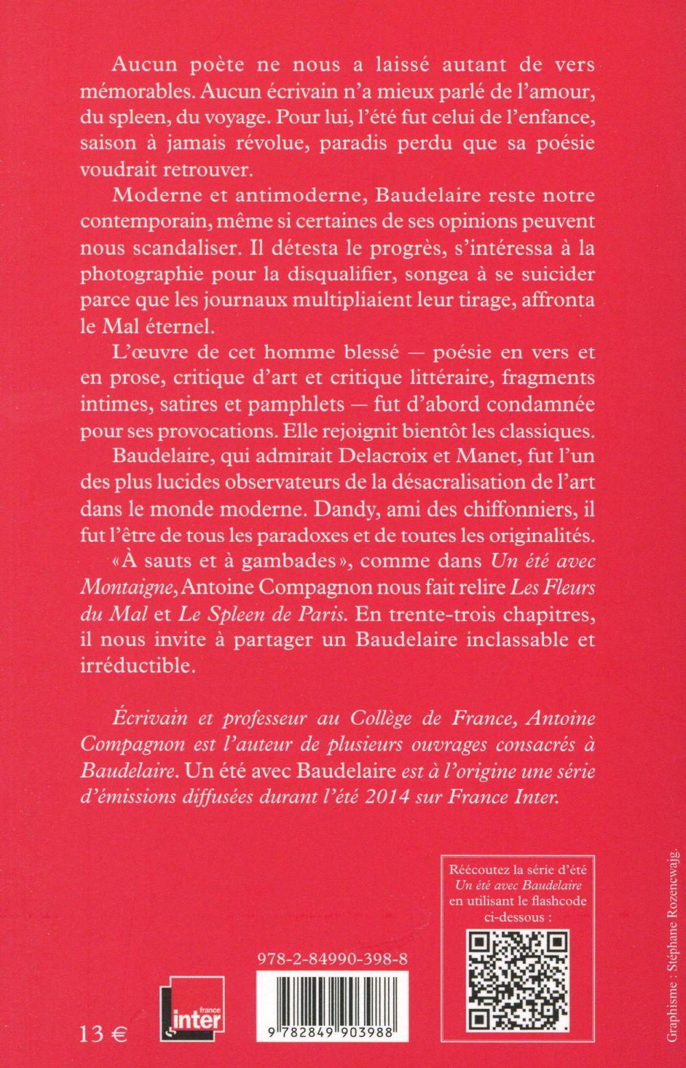 Un été avec ; Baudelaire
