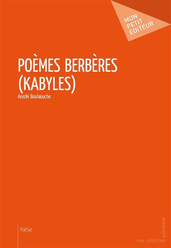 Poèmes berbères (kabyles)