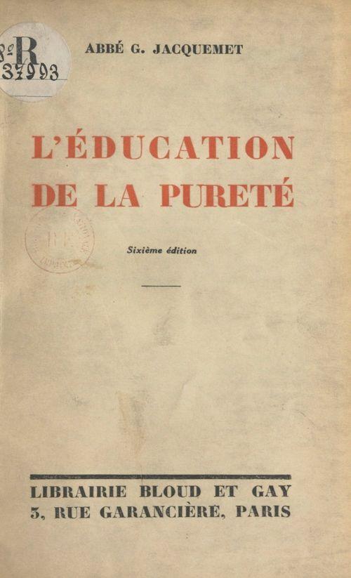 L'éducation de la pureté
