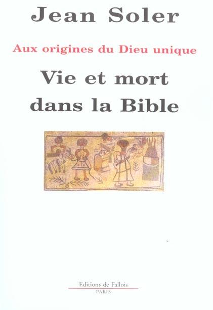 Vie Et Mort Dans La Bible