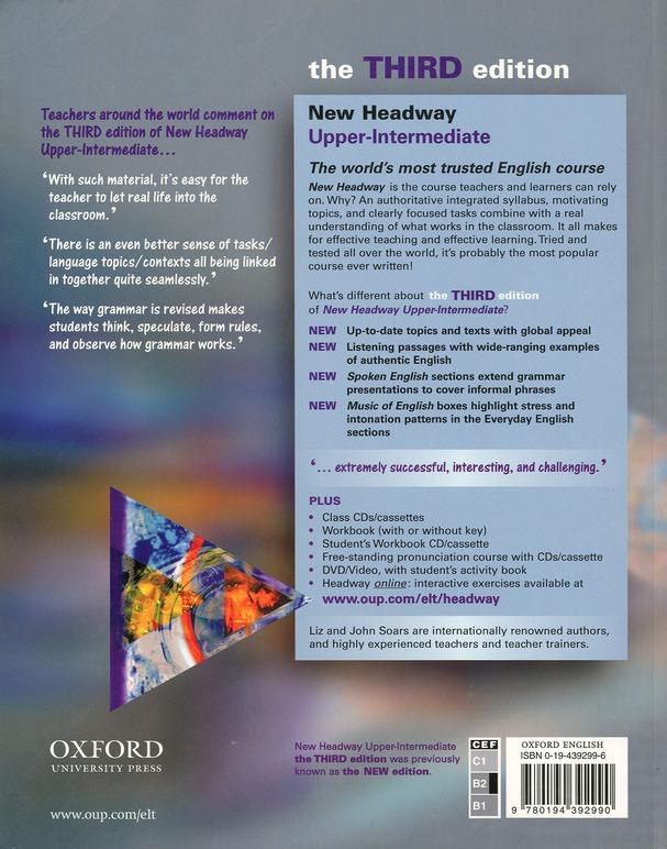 New headway ; english ; upper-intermediate ; student's book (3e édition)