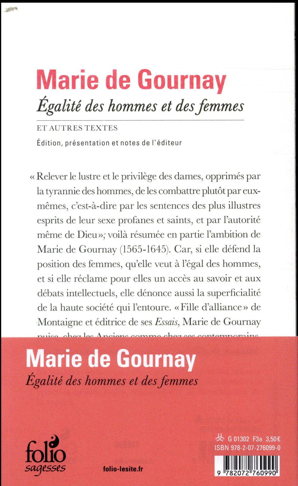 égalité des hommes et des femmes et autres textes