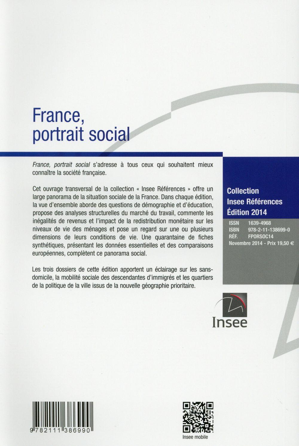 France ; portrait social (édition 2014)