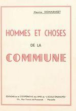 Hommes et choses de la Commune