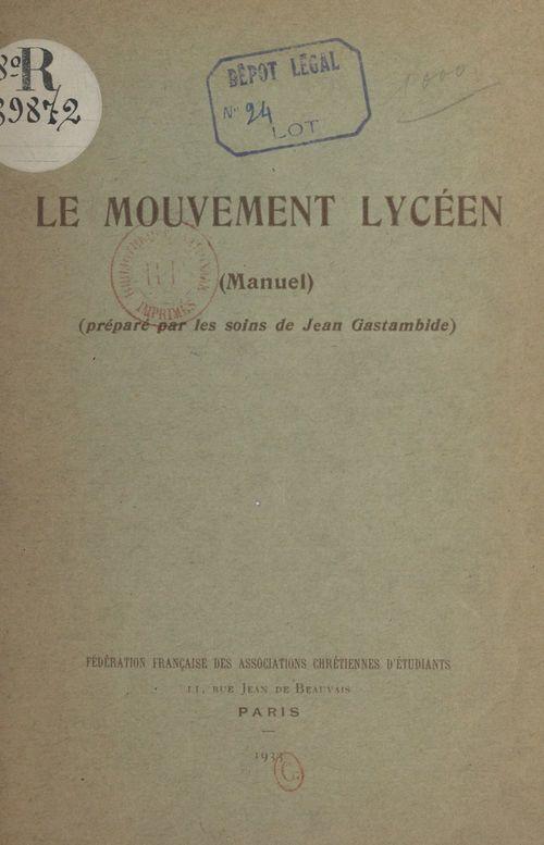 Le mouvement lycéen (manuel)