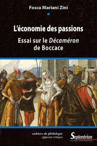 L'economie des passions essai sur le