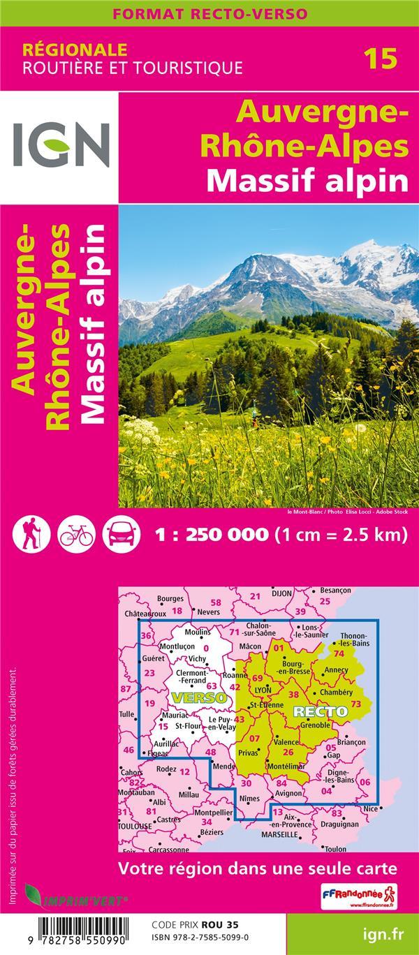 NR15 ; Auvergne-Rhône-Alpes, Massif alpin (2e édition)