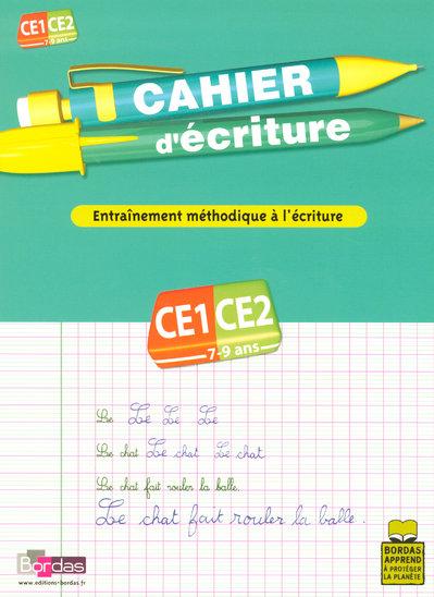 Cahier d'écriture ; CE1/CE2 ; entraînement méthodique à la lecture