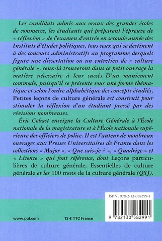 Petites leçons de culture générale (7e édition)