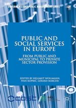 Public and Social Services in Europe  - Gerard Marcou - Ivan Kopric - Hellmut Wollmann