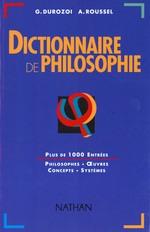 Couverture de Dictionnaire de philosophie