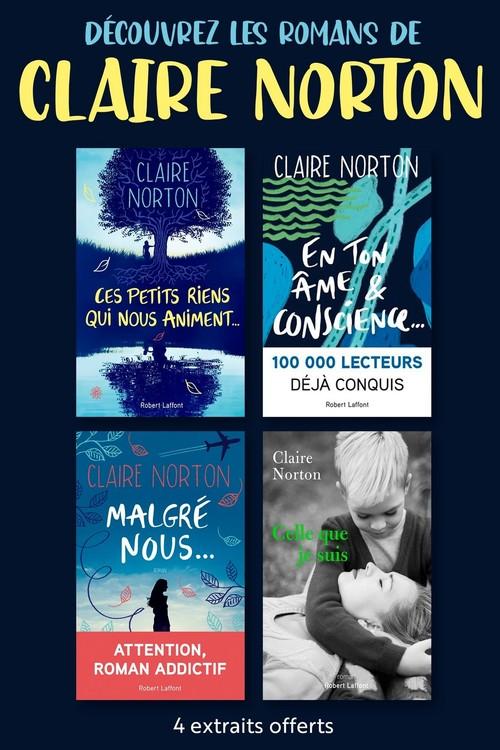 Extraits gratuits de quatre romans de Claire Norton