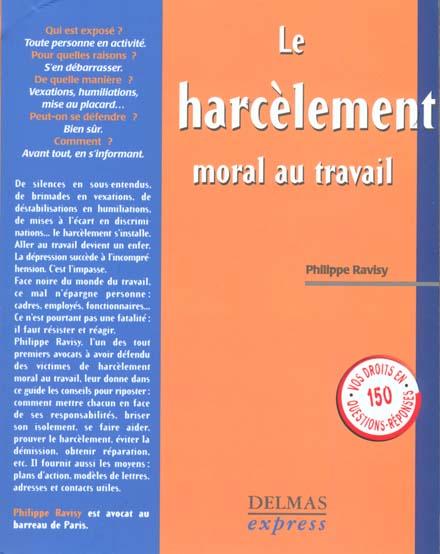 Harcelement moral dans l'entreprise ; 1e edition