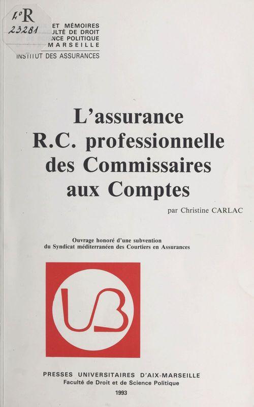 L'Assurance RC professionnelle des commissaires aux comptes