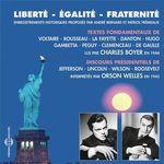 Vente AudioBook : Liberté, égalité, fraternité  - Victor Hugo - Voltaire - Georges-Jacques Danton - Léon Gambetta - marquis de La Fayette - Charles Pegu