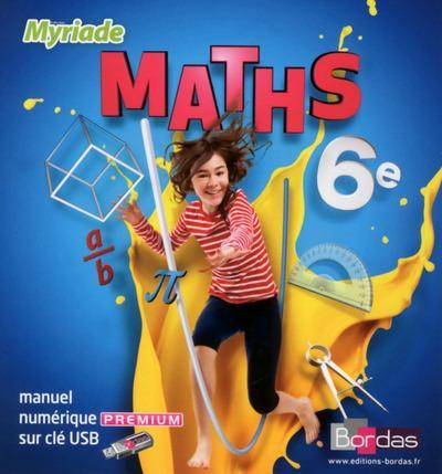 MYRIADE ; maths ; 6e ; manuel numérique sur clé USB