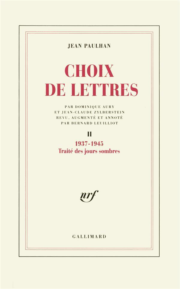 Choix de lettres - vol02 - 1937-1945