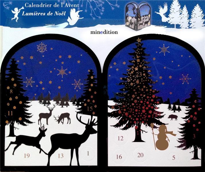 Calendrier de l'avent religieux ; lumières de Noël divers