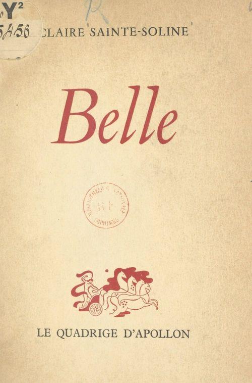 Belle  - Claire Sainte-Soline