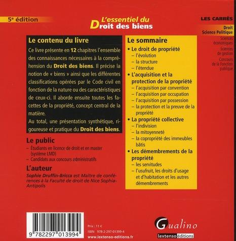 L'essentiel du droit des biens (5e édition)