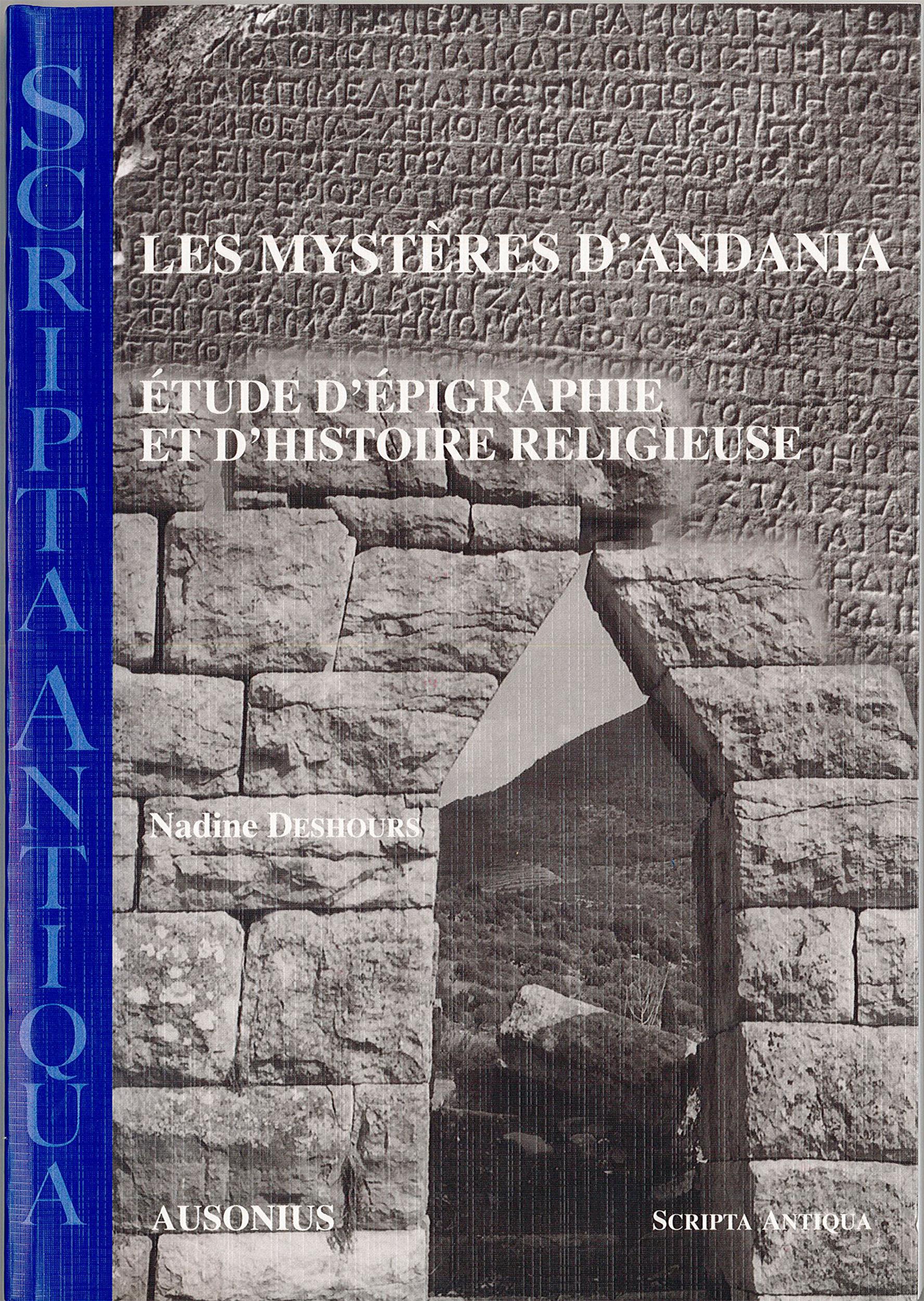 Mysteres d andania etude d epigraphie et d histoire religieuse