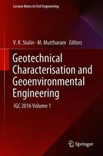 Geotechnical Characterisation and Geoenvironmental Engineering  - V. K. Stalin - M. Muttharam