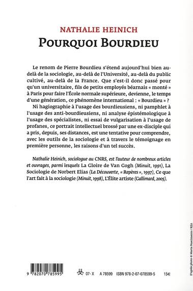 pourquoi Bourdieu ?