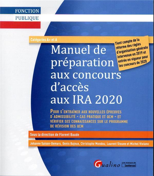 Manuel de préparation aux concours d'accès aux IA 2020 (6e édition)