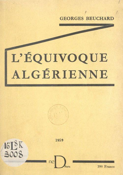 L'équivoque algérienne