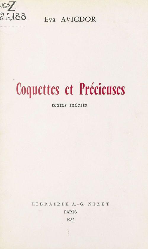 Coquettes et precieuses - textes inedits