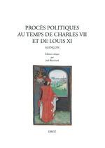 Vente Livre Numérique : Procès politiques au temps de Charles VII et de Louis XI  - Joël BLANCHARD - Franck Collard