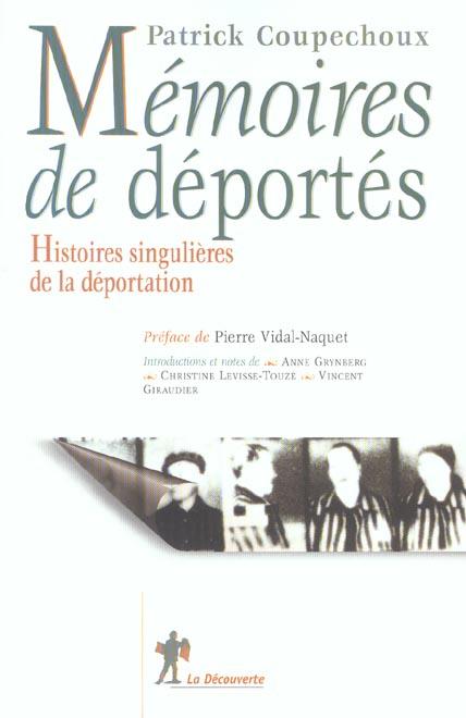 memoires de deportes histoires singulieres de la deportation