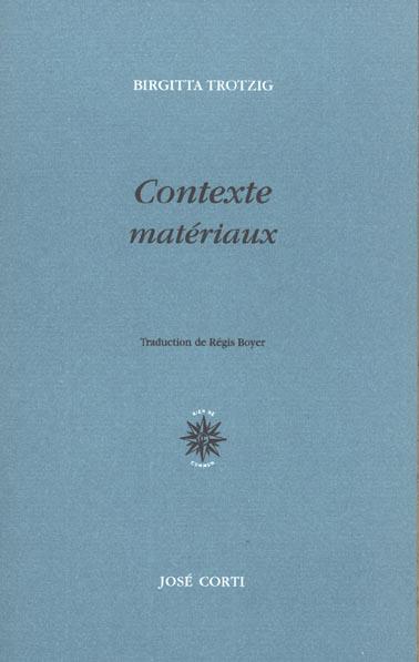 Contexte materiaux