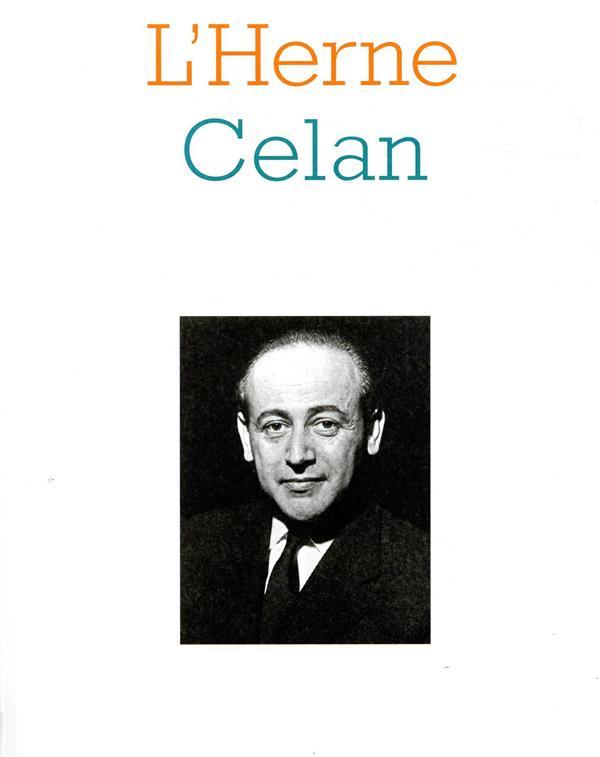 LES CAHIERS DE L'HERNE ; Celan
