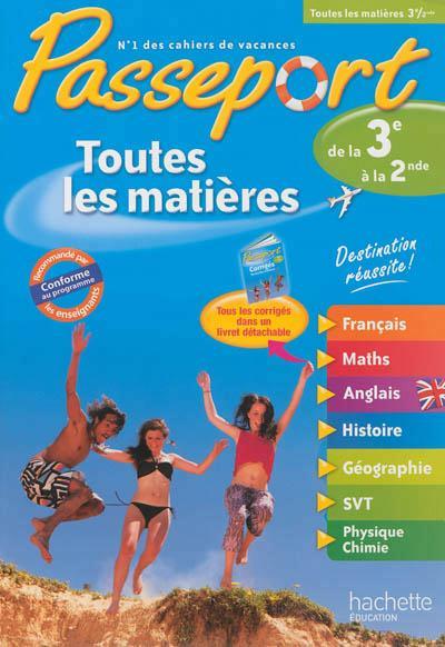 Passeport; Toutes Les Matieres ; De La 3eme Vers La 2nde
