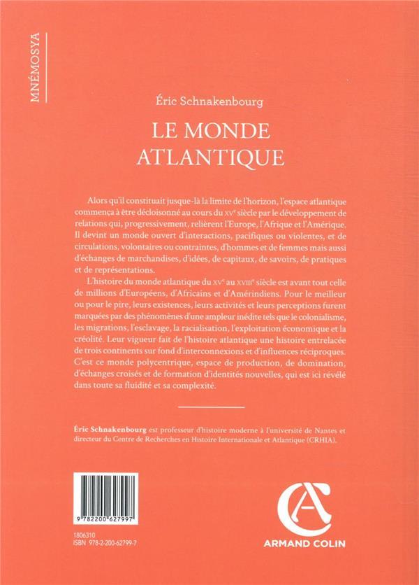 Le monde atlantique : un espace en mouvement, XVe-XVIIIe siècle