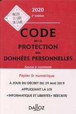 Code De La Protection Des Données Personnelles (édition 2020)