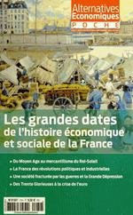 Couverture de Les grandes dates de l'histoire économique et sociale de la France