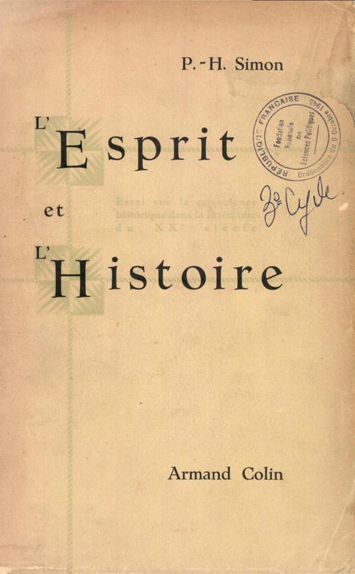 L'Esprit et l'histoire