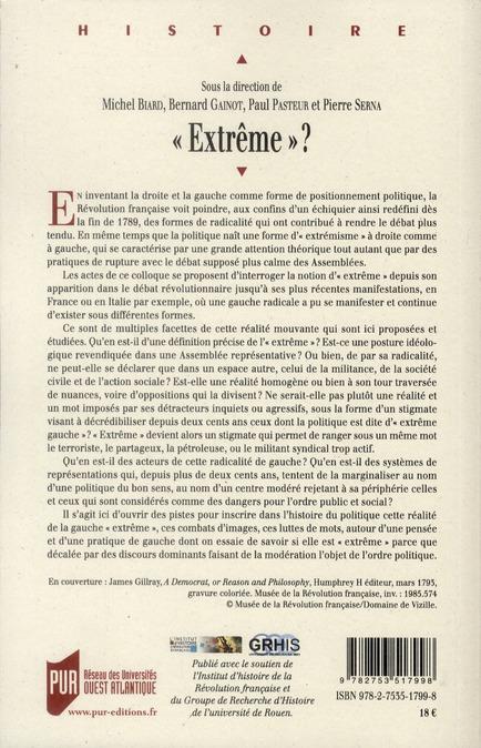 Extrême ? identités partisanes et stigmatisation des gauches en europe (XVIII-XX siècle)