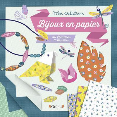 Bijoux en papier ; 50 feuilles, 8 modèles