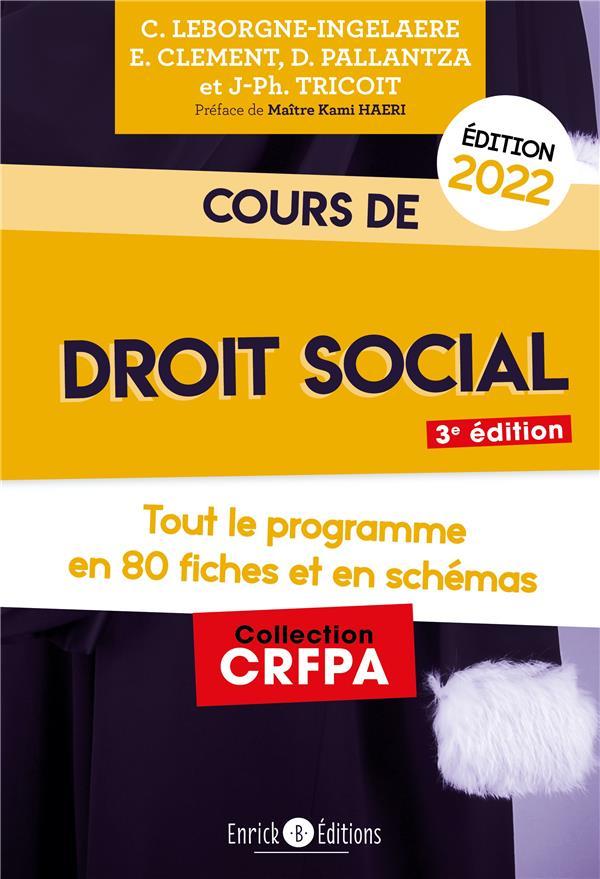cours de droit social 2022 ; tout le programme en fiches et en schémas