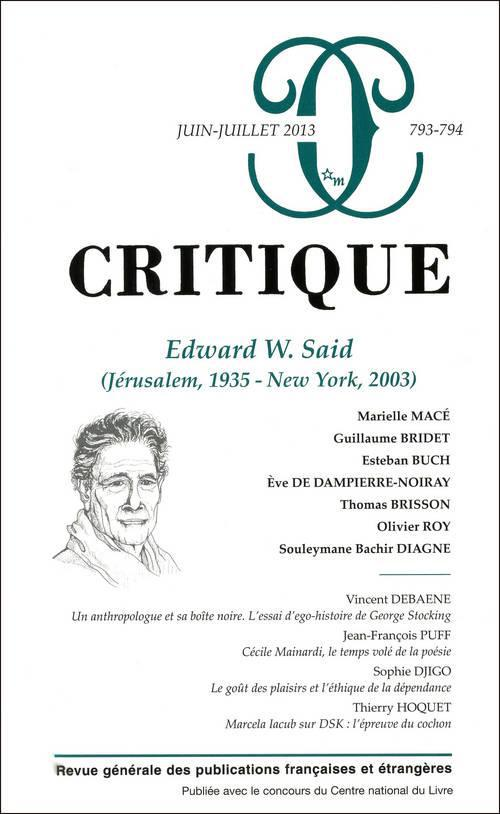 T. 794 ; edward w. said (jérusalem, 1935-new york, 2003)