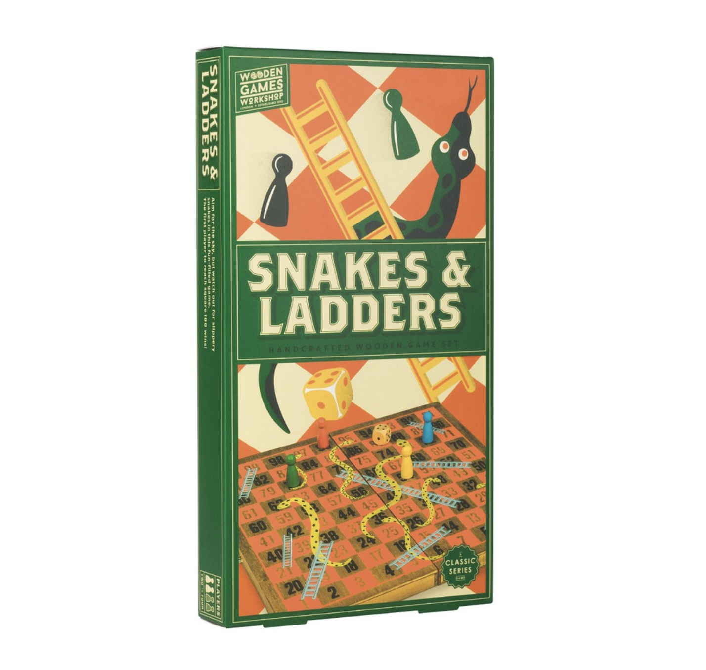 SNAKES AND LADERS EN BOIS