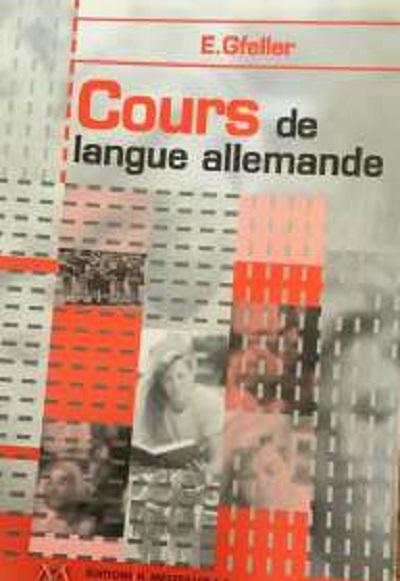 COURS DE LANGUE ALLEMANDE 2000 - 5EME EDITION