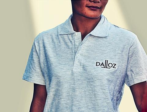POLO DALLOZ GRIS CHINE