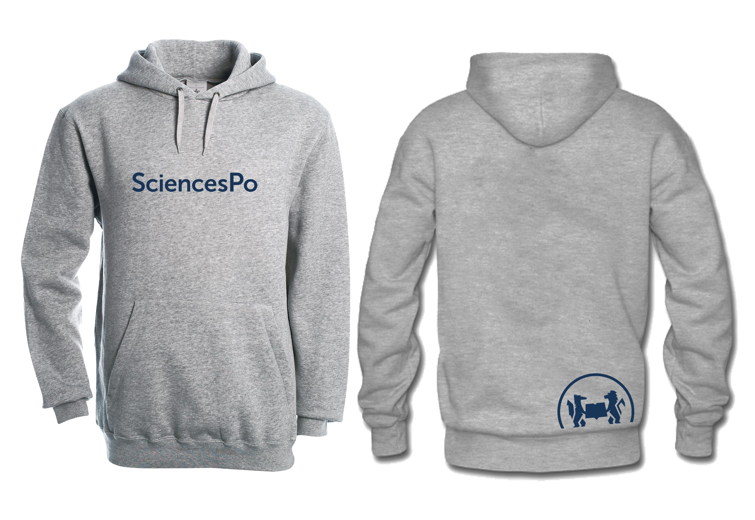 SWEAT (9-11 ANS) EXTRA EXTRA SMALL GRIS SCIENCES PO UNISEXE