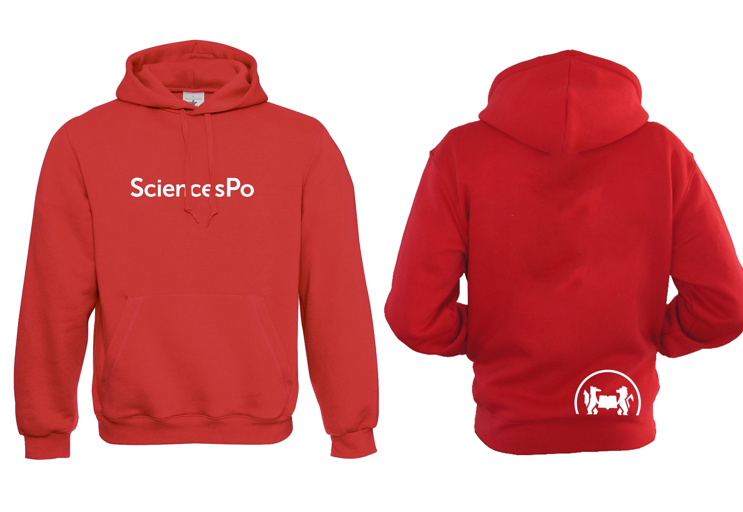 SWEAT (9-11 ANS) EXTRA EXTRA SMALL ROUGE SCIENCES PO UNISEXE