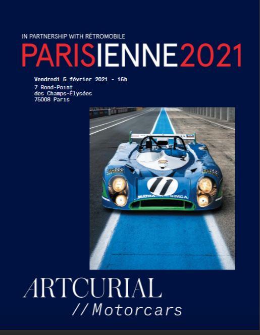 LA PARISIENNE 2021 CATALOGUE VENTE RETROMOBILE